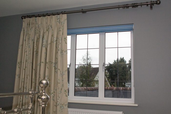 Bedroom Curtain fitting and installation in Surrey, London