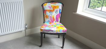 Upholstered child's Victorian Chair, Oxshott, Surrey