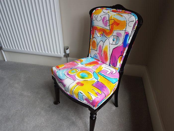 Upholstered child's Victorian Chair, Oxshott, Surrey