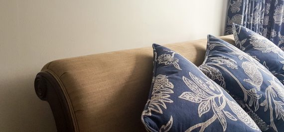 Upholstered Sleigh Bed in Surrey