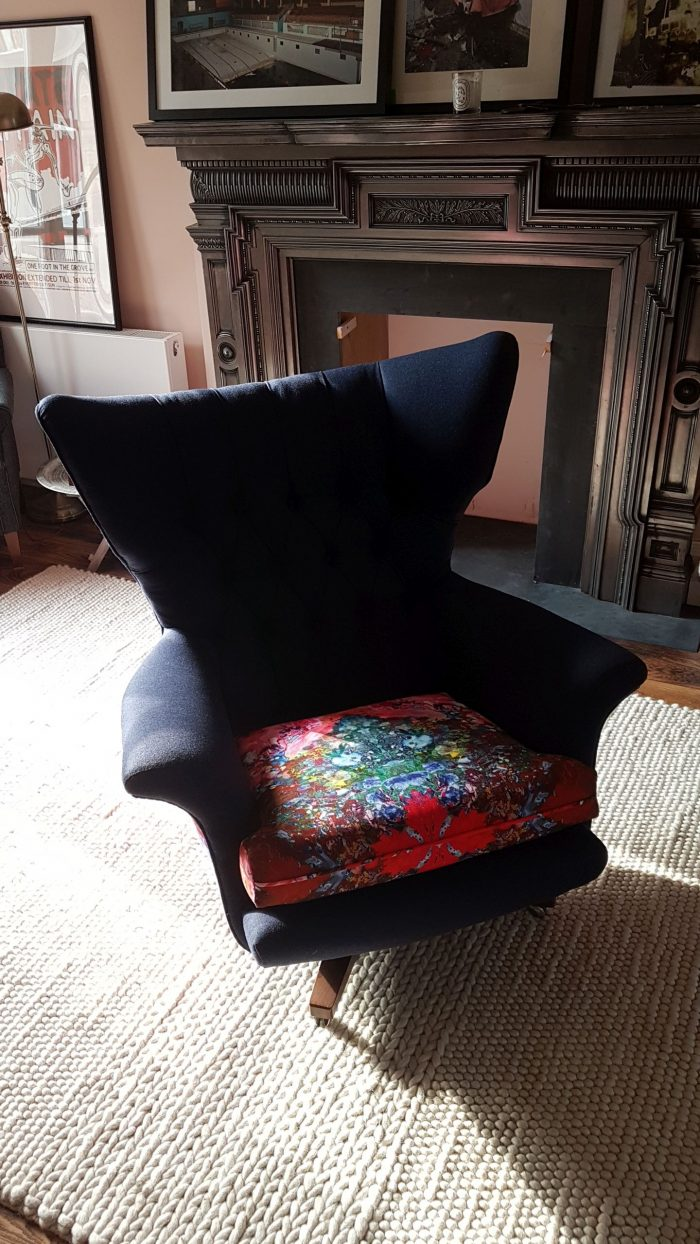 Thunder Blotch Fabric Upholstered Chair