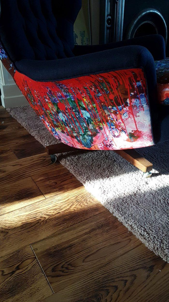 Thunder Blotch Upholstered Chair