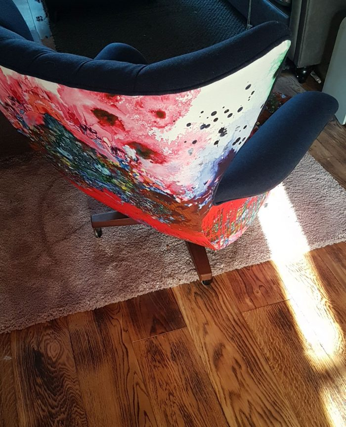 Thunder Bloth Upholstered Winged Chair