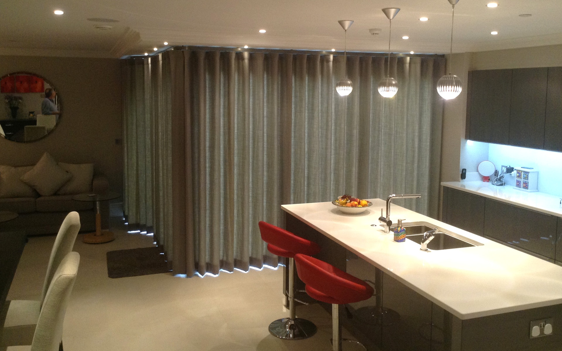 Bespoke curtains in Esher