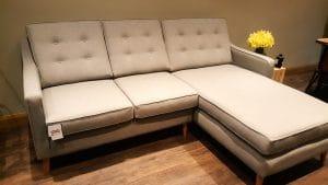 Mid Century Chaise Sofa