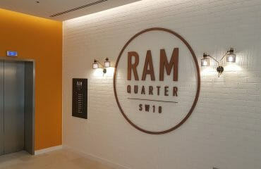 The Ram Quarter, Curtain and tracks fitting