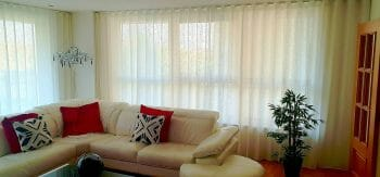 Net Curtains - Fabric Atacama in white (V3138/02)