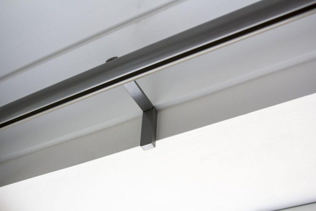 Curtain track fitting London, SG 6130 Metropole in Slate Grey