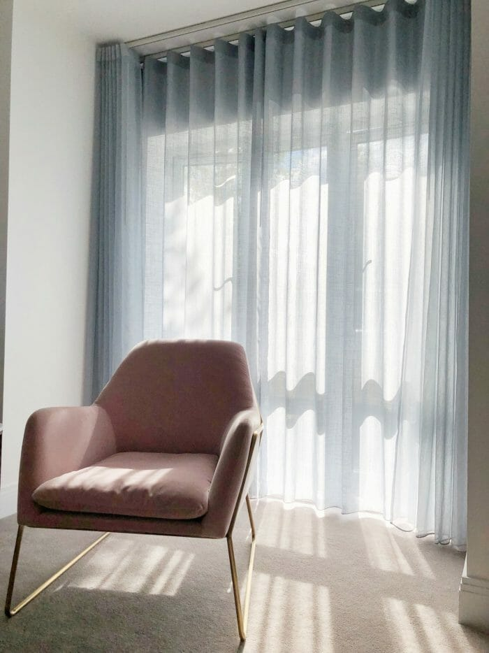 Sheer curtains at Imber Riverside London
