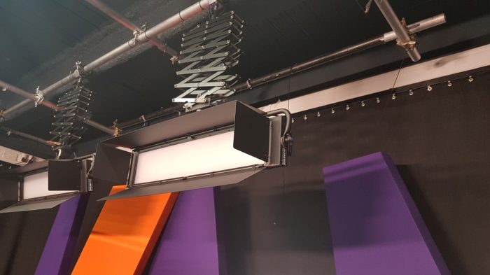 Curtains for video studio, The Westworks, White City, London