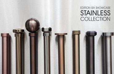 Designer curtain poles made to measure in various finishes