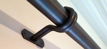 Face fix curtain pole centre bracket waxed finish