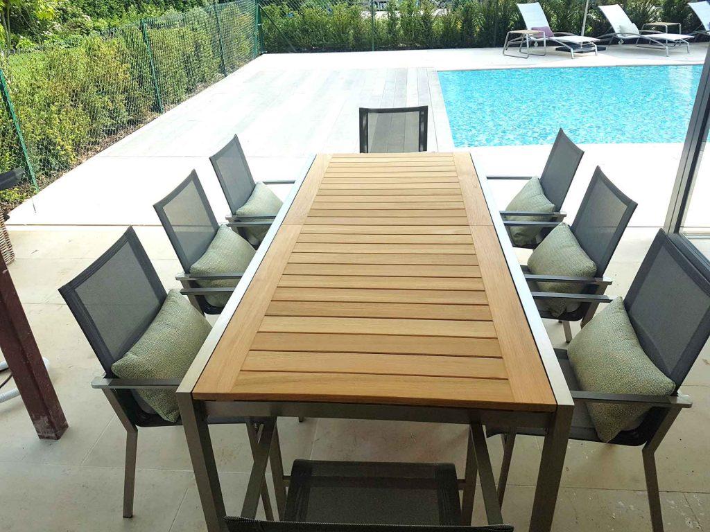 Luxury outdoor furniture, table, indian ocean royal botania