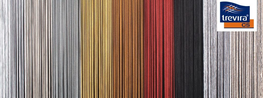 Spaghetti Curtain inherently fire retardant multiple colours available
