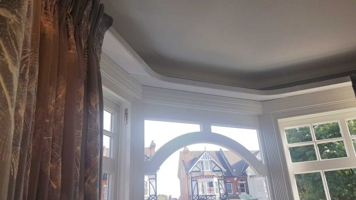 Triple pleat curtains Paloma Amity Slate 132670